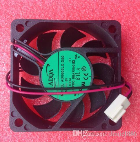 ADDA AD0605LX-D90 5V 0.21A 60*60*15 2 wire double ball fan hard disk recorder fan