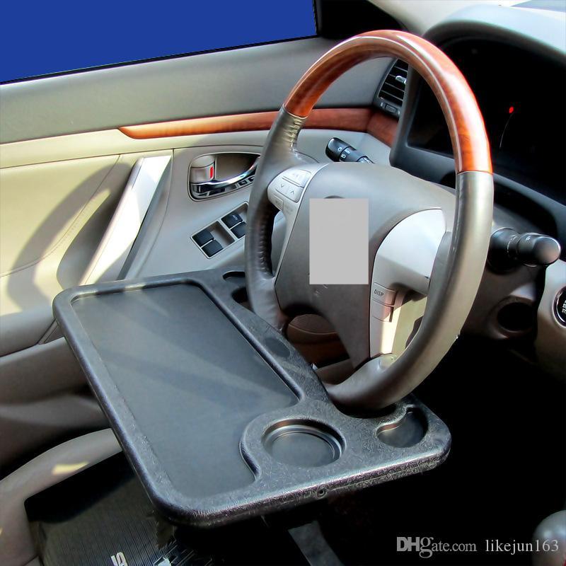 도매 자동차 스티어링 휠 트레이 노트북 음료수 홀더 유용한 자동차 인테리어 Stowing 액세서리 맞춤 정의