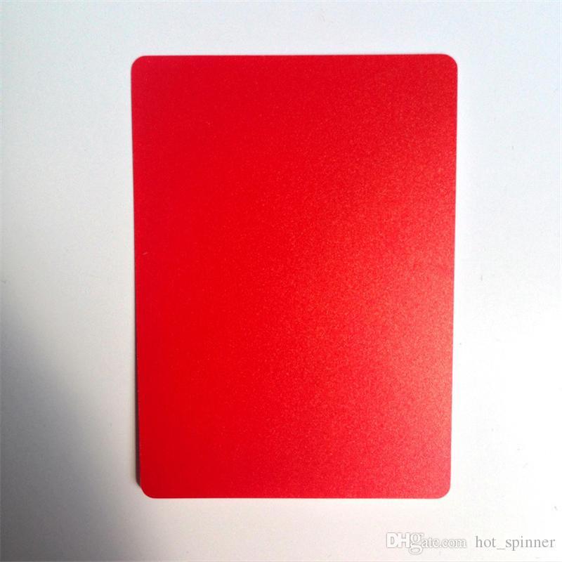 Jeu de cartes à jouer en plastique Texas Holdem en plastique rouge / noir Cartes de poker imperméables et ternes des jeux de société de poker polonais Star
