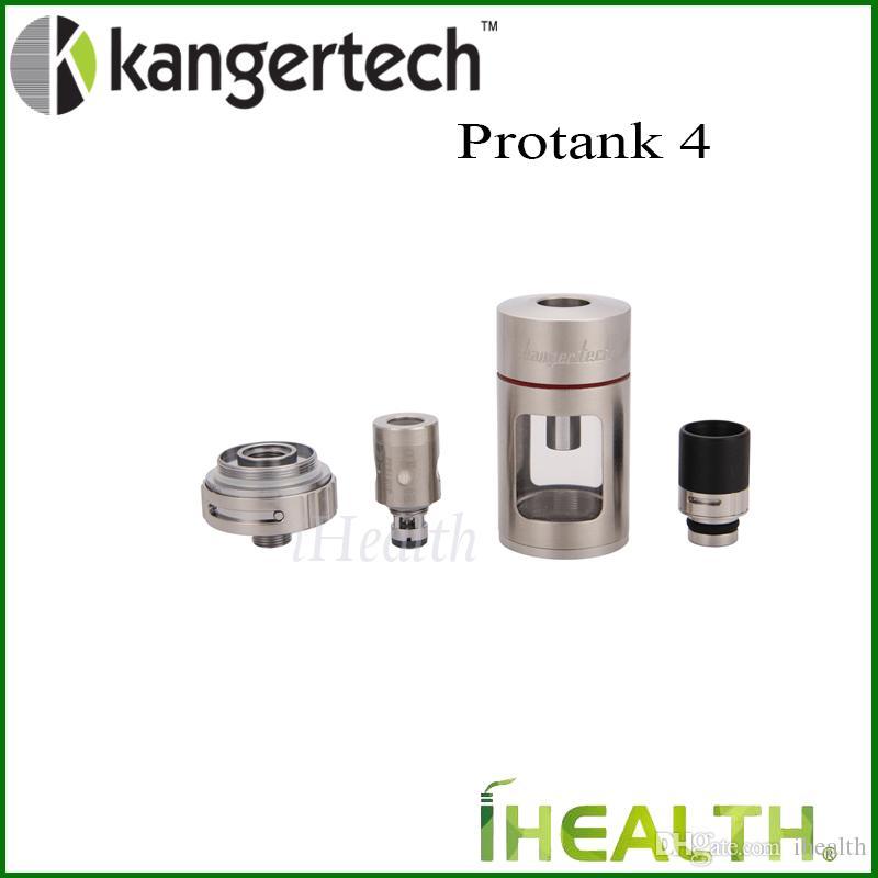 Kanger Protank 4 Atomizzatore 5.0ml Capacità con flusso d'aria regolabile driptip 100% Originale Kanger Protank4 clearomizer Atomizzatore LYCHE