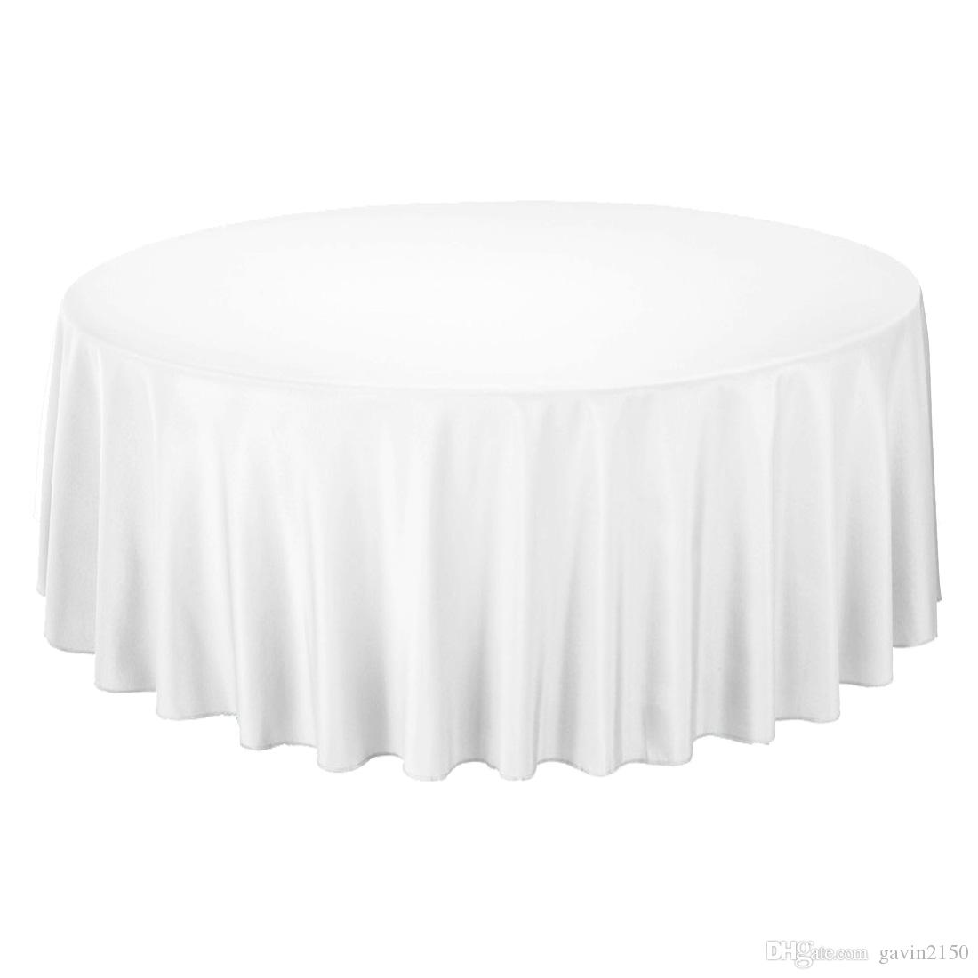 120inch/305cm Round Polyester Tablecloth Table Cover Table Cloth For Wedding Party Restaurant Banquet Home Black White