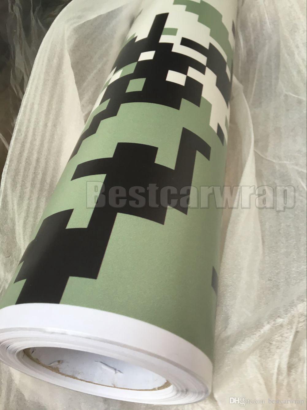 Dijital Ordu Askeri Camo VINYL Tam Araba Sarma Kamuflaj Folyo Etiketler Camo kamyon ile hava ücretsiz boyutu ile kapsayan folyo 1.52x30 m / Rulo