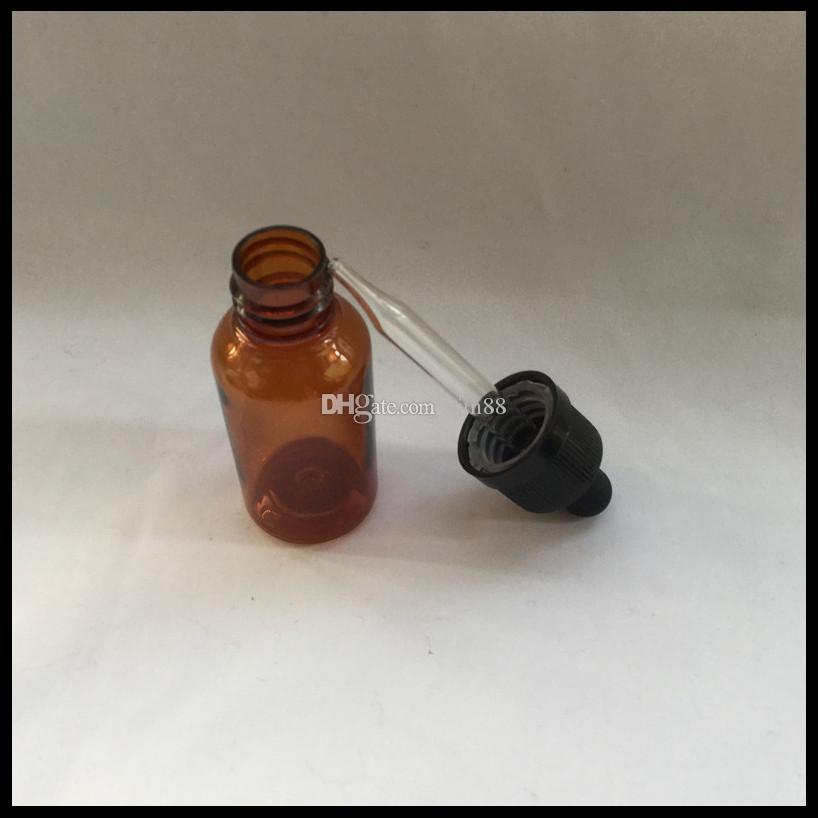 E sıvı 30 ml plastik amber şişe ile cam damlalık şişe ve çocukların açamayacağı kap e sigara boş şişe