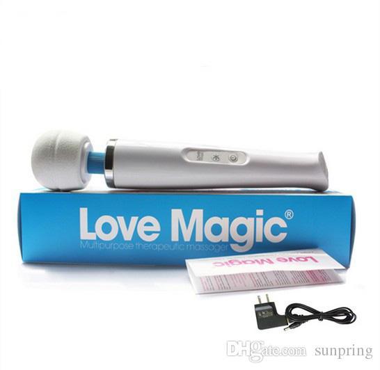 Massaggiatore magico ricaricabile della bacchetta di 20 velocità, vibratore AV magico di amore, prodotti massimi del corpo di massaggiatore di HandHeld di vibrazione potente