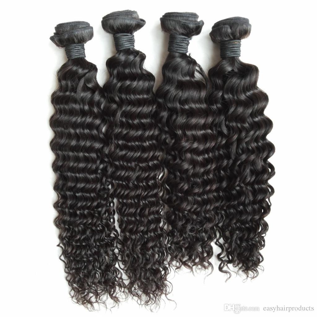 Peruvian Hair!!Cheap Peruvian Hair Extension Deep Wave Hair Weft 8-30 inch G-EASY
