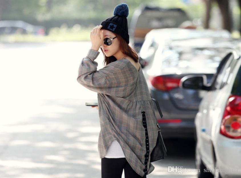 Faux Mapache de Piel Bola Cap Poms Sombrero de Invierno Para Mujeres Niñas Sombrero de Punto Slouch Elastic Beanies Cap Grueso Invierno Cap Mujer caliente