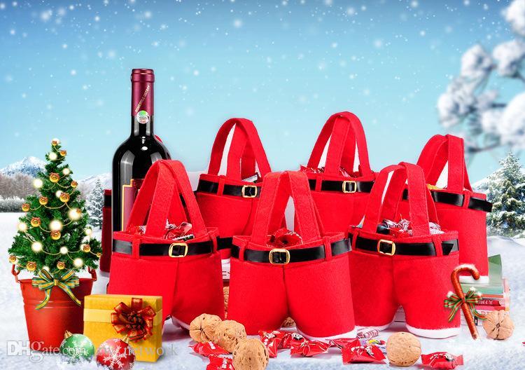 패션 크리스마스 산타 바지 가방 성령 사탕 가방 크리스마스 장식 자루 귀여운 아이 선물 홈 파티 장식 77