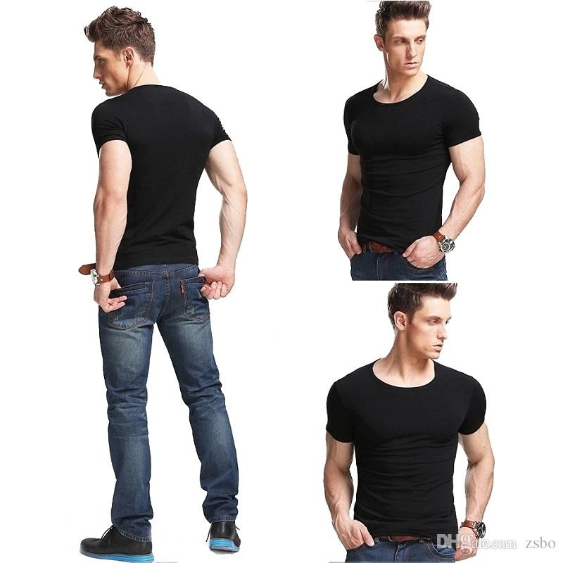 100% cotton Fashion trends Cool Solid Color Men's v neck o neck T Shirt short sleeve Tops Tees men Loose tshirt TX146 RFF