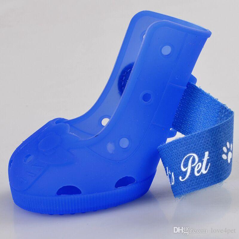 E89 Yaz Pet Köpek Ayakkabı Moda Köpek Ayakkabı Pet Ayakkabı Pet Botları 4 adet / takım ücretsiz kargo