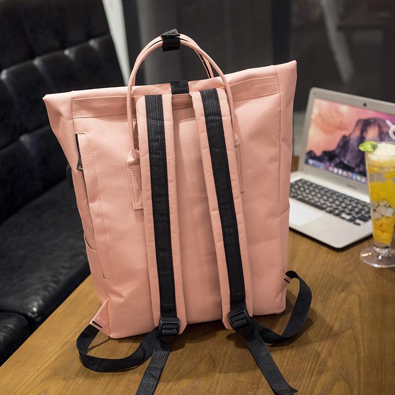 Nuovo 2017 donne ragazze zaino USB ricarica zaini di nylon borse da scuola adolescenti studenti ragazza cartella