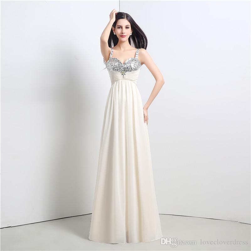 2017 Prom Dresses Crystals Beaded Long Formal Prom Gowns Sexy