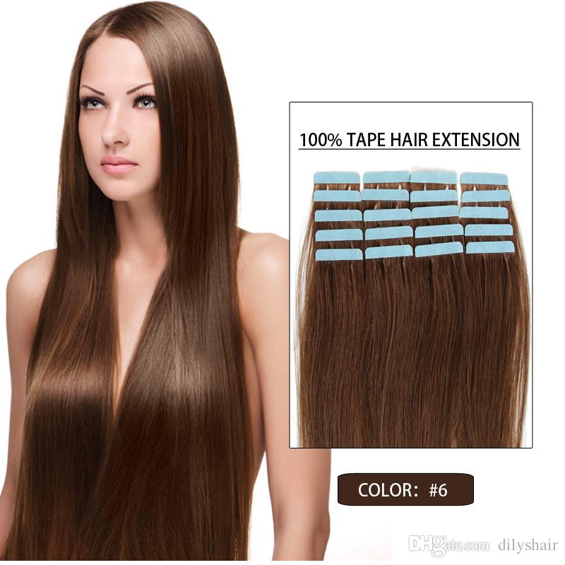 6 Tape In Human Hair Extensions Human Tape In Hair Extensions Skin
