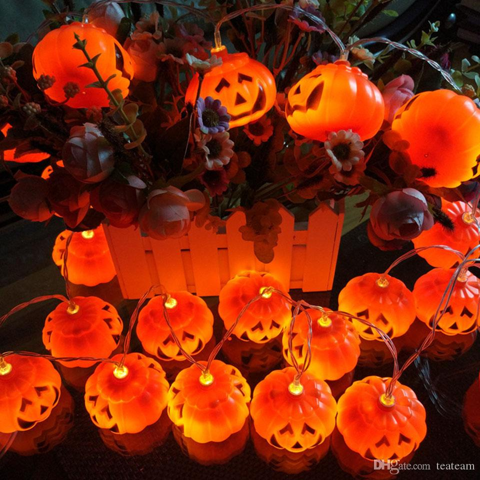 cheap halloween lights pumpkin shape string lights 10 20 led solar