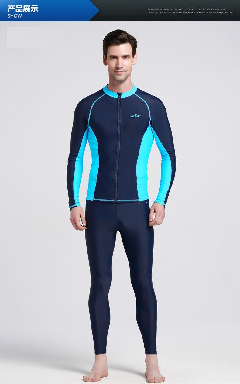 be41f4199c5 2019 SBART Plus Size S 3XL Men Long Sleeve Rashguard Jacket For Surf Women  Lycra Anti UV Rashguard With Zipper Sweethearts Outfit N From David0930