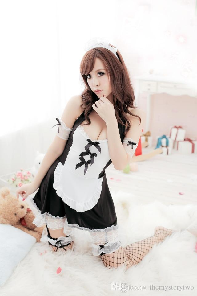 Sexy Lingerie Maid, plus la taille 3XXXXL Grande taille intérieur ropa mujer sexy érotisme transparent costumes sexy salle serviteur