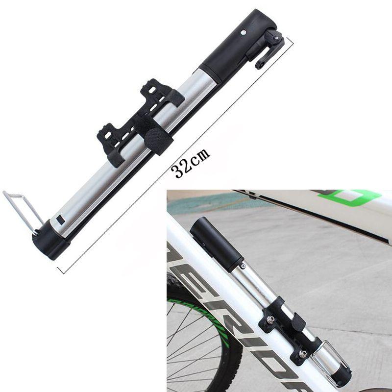 Portable Mini Bike Bicycle Tire Tyre Pump Gauge Road MTB Air Inflator