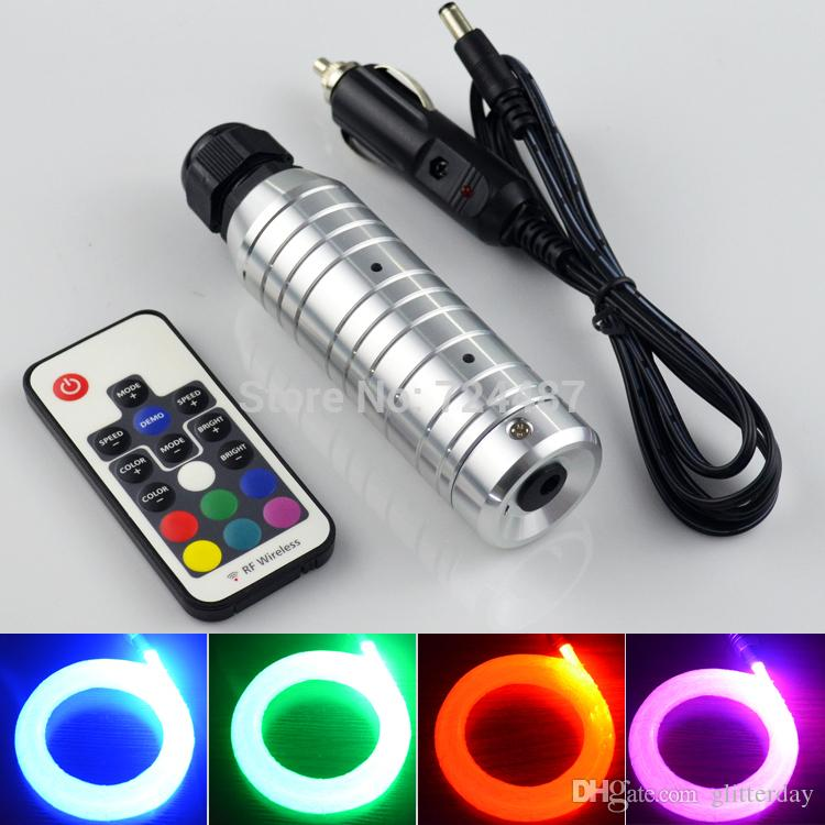 diy kit led light dc12v 6w rgb led fiber optic lighting fibra