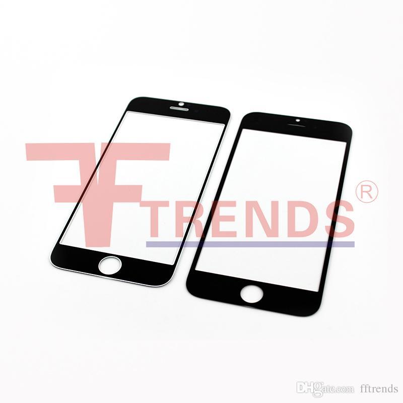 Pour iPhone 6 4.7inch Avant Lentille En Verre Ourter Écran Tactile Couverture Noir Blanc Pièces De Rechange Réparation Gratuit DHL Livraison
