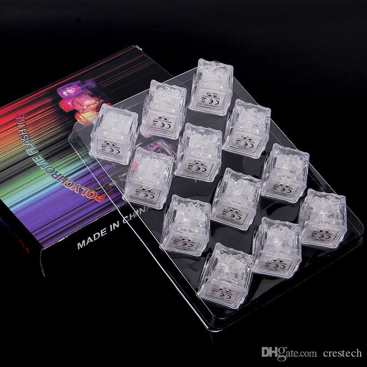 Led party light cubes Multicolor Light up LED Blinking Ice Cubes liquid active sister Night Lights for Party Xmas wedding decor