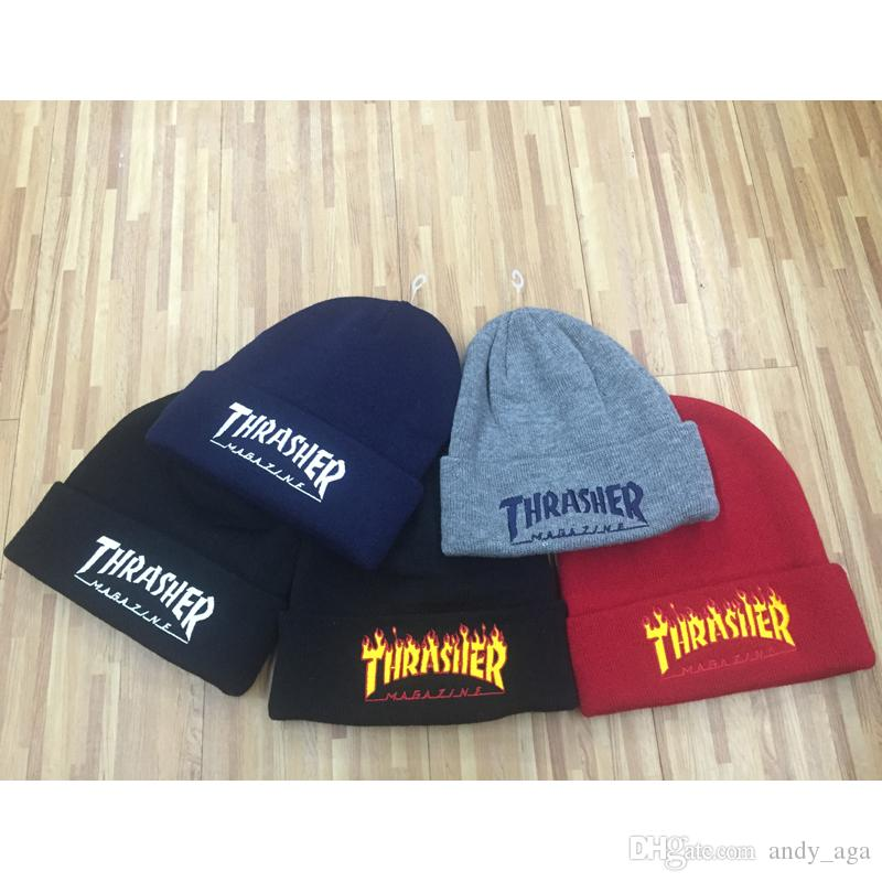 df43912e76e 2019 Best Quality Men Homies Beanie Black Color Fashion Knit Beanies  Snapback Hats Flame Caps Streetwear Hat Cap From Andy aga
