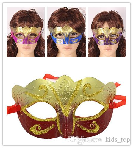 Partido veneziano masquerade Máscara de olho de ouro Sexy Hip Hop traje de Dança do carnaval cosplay fantasia vestido de natal traje de presente de casamento 100 p B124