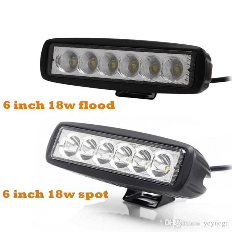 hot sell automobile 12v 24v 6inch Slim tractor truck offroad 18w Led work Light
