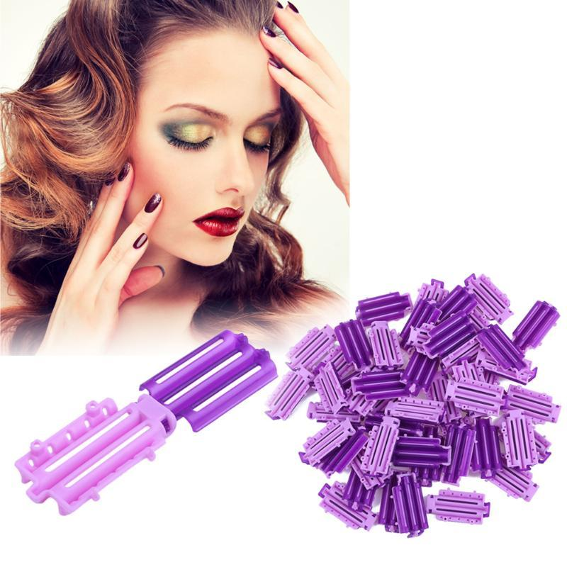 45Pcs/Lot DIY Hair Styling Clips Fluffy Hair Roots Perming Invisible Rod Wavy Hair Curl Maker Curling Clamps Tool