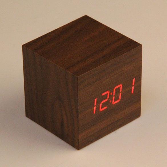 discount cheap cube led alarm clock temperature sounds. Black Bedroom Furniture Sets. Home Design Ideas