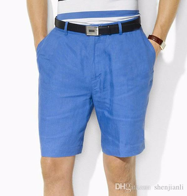 wholesale Drop Shipping 2016 high-quality cotton men's shorts men's fashion casual shorts male pony ball shorts size M-XXXL