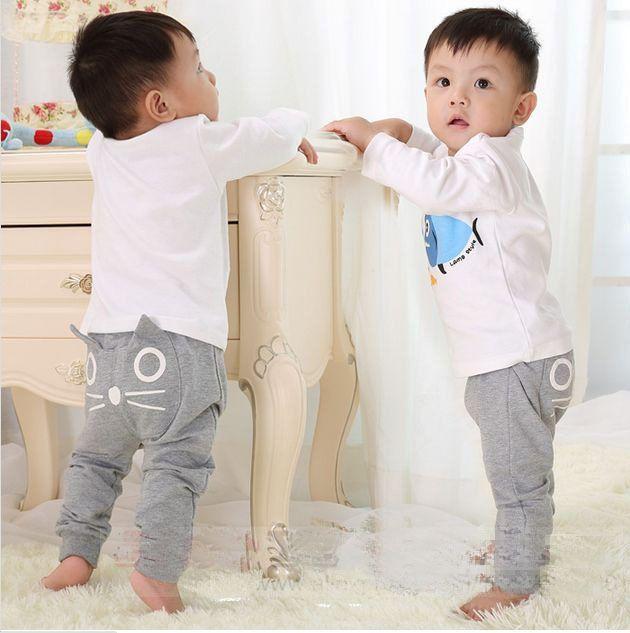 Sıcak satış ilkbahar ve sonbahar çocuk giyim erkek kız harem pantolon pamuk baykuş pantolon bebek pantolon