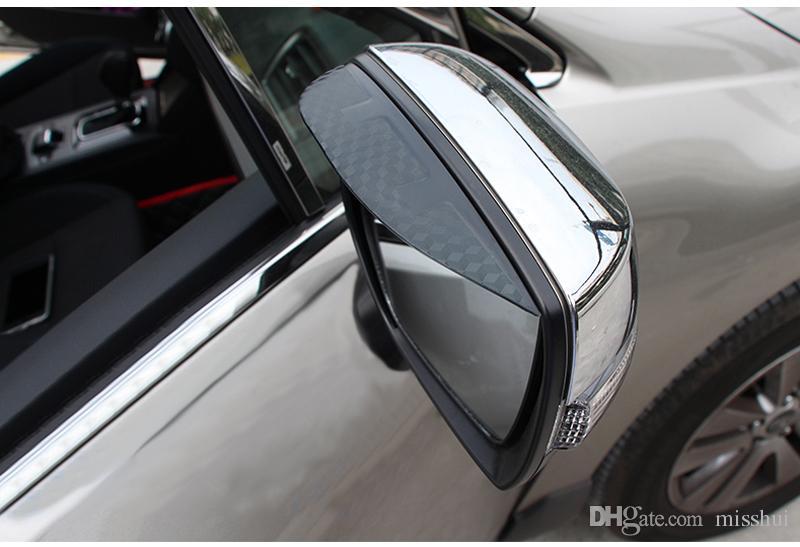 Araba Styling Için Karbon dikiz aynası yağmur kaş Yağmur Geçirmez Esnek Bıçak Koruyucu Aksesuarları Subaru XV 2014