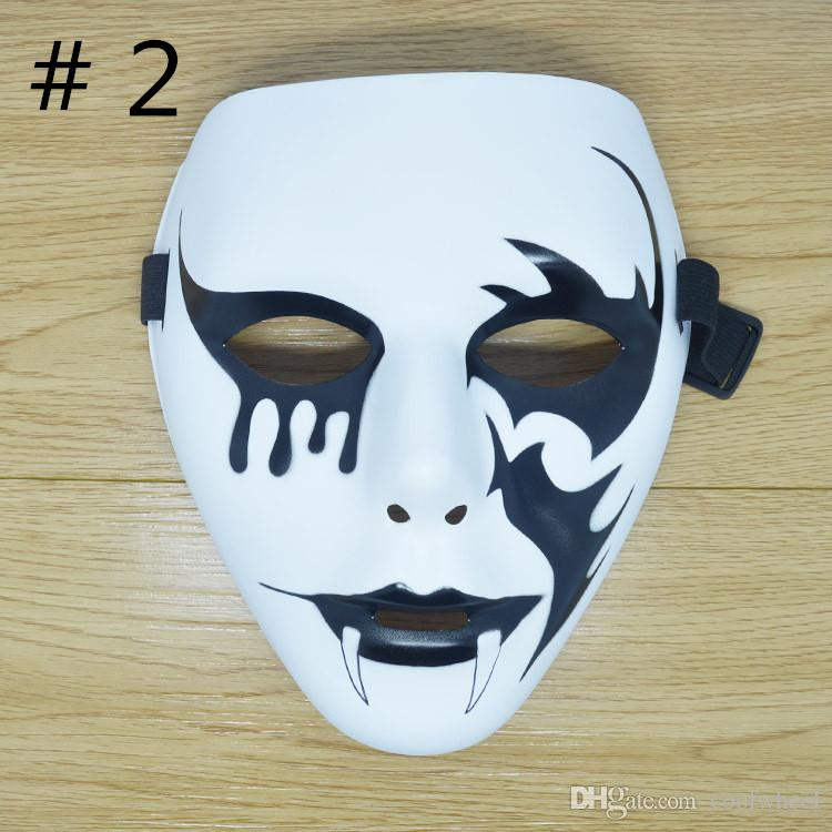 cool street dance mask halloween party masks school masquerade mask hand painted hip hop masks ghost decoration drop shipping masquerade masks on sticks - Cool Masks For Halloween
