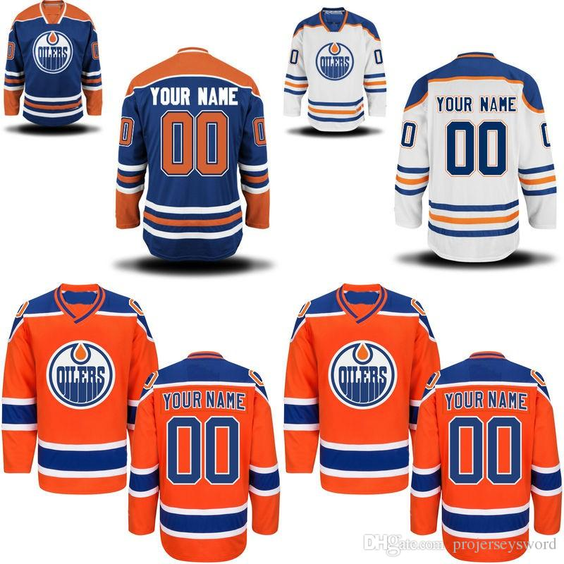 check out 03748 b2377 Edmonton Oilers Jersey S-5XL Personalized Customized Jerseys With Any Name  and Any Number 100% Stitched Embroidery Logos Hockey Jerseys