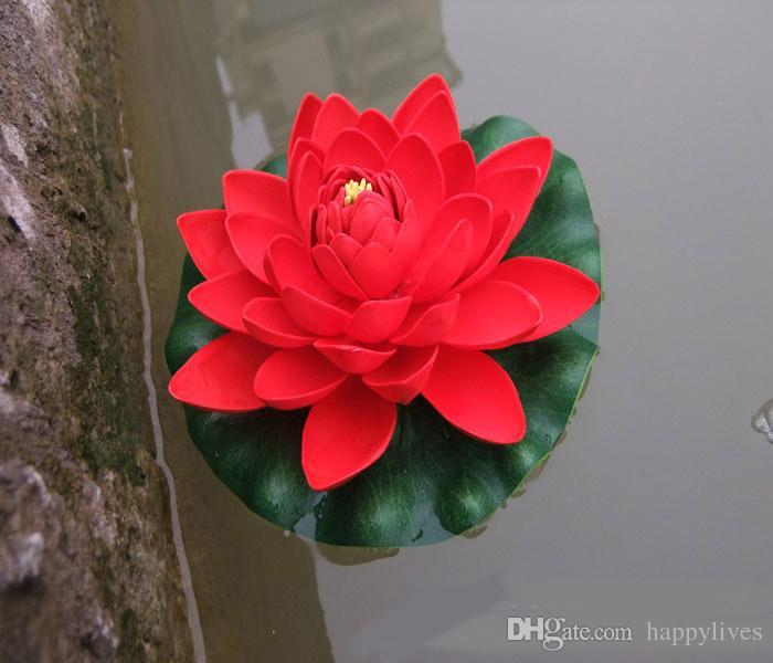 Künstliche sich hin- und herbewegende Lotus-Blumen-Garten-Aquarium-sich hin- und herbewegende Lotus Lotus Pool Happytime künstliche Wasser-Lilien