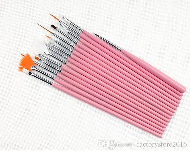 15 ШТ. Nail Art Лак Для Живописи Кисти Косметические Nail Art DIY Draw Dotting Pen Советы Набор Инструментов Pro Nail Art Liner Design Kit