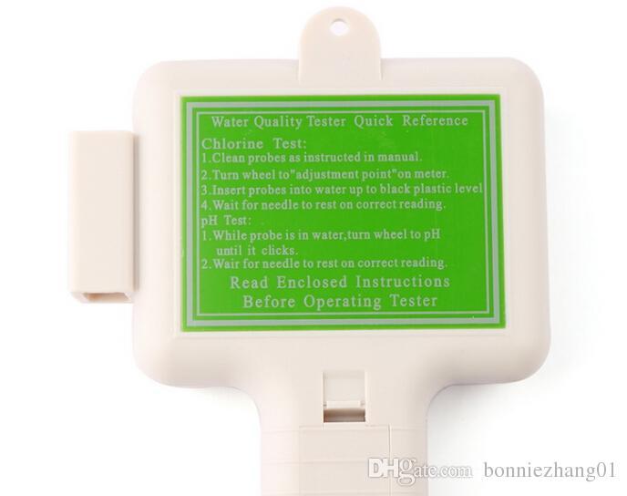 gratuit par fedex dhl Portable eau PH / CL2 testeur de chlore mètre de niveau PH testeur pour piscine Spa piscine kits de test de test de l'eau