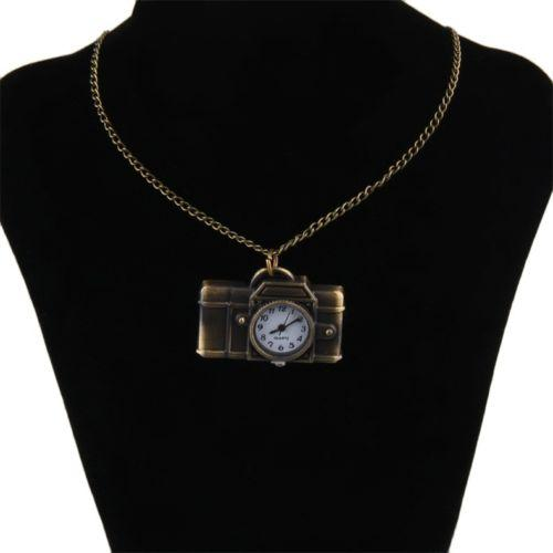 Necklaces & Pendants For Women Vintage Cartoon Camera Sweater Chain Watch Pendant Necklace Korean Style DE Chain Pendant necklace