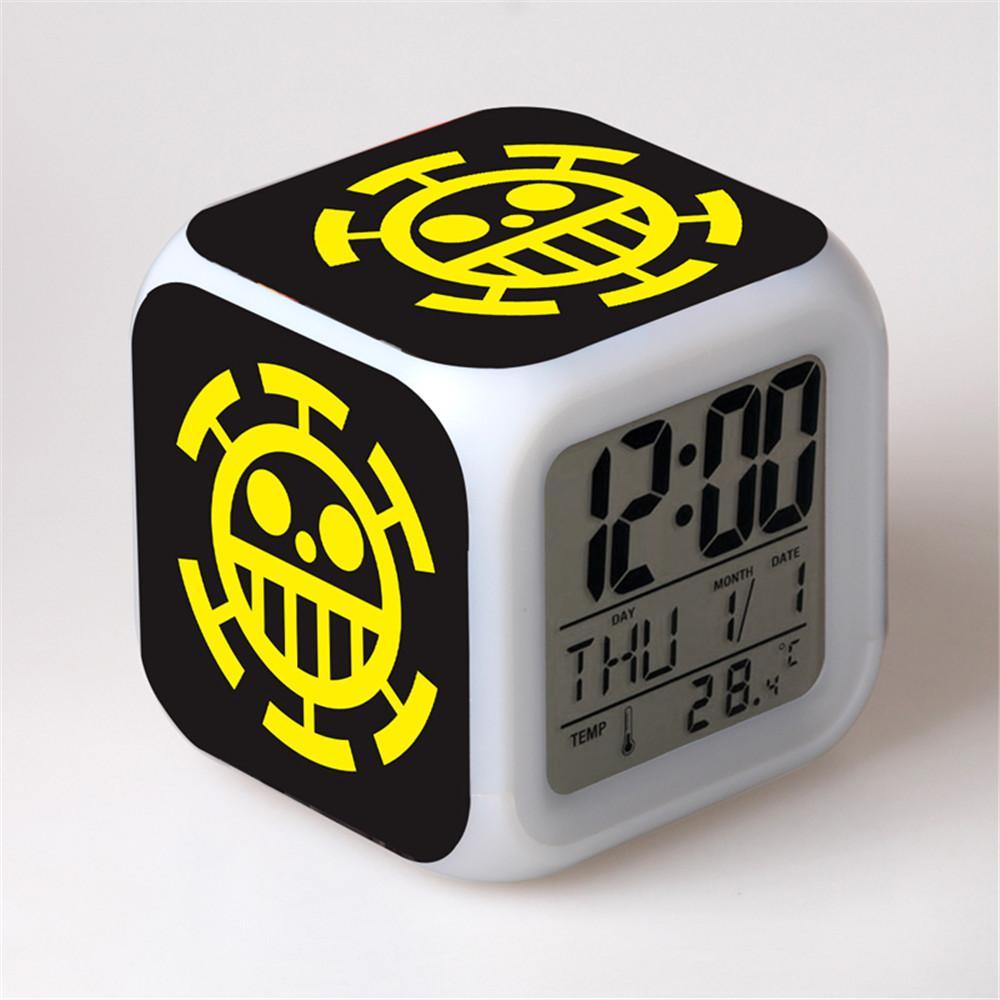 Creative Digital Calendar 2017 new one piece trafalgar law badge creative digital led alarm