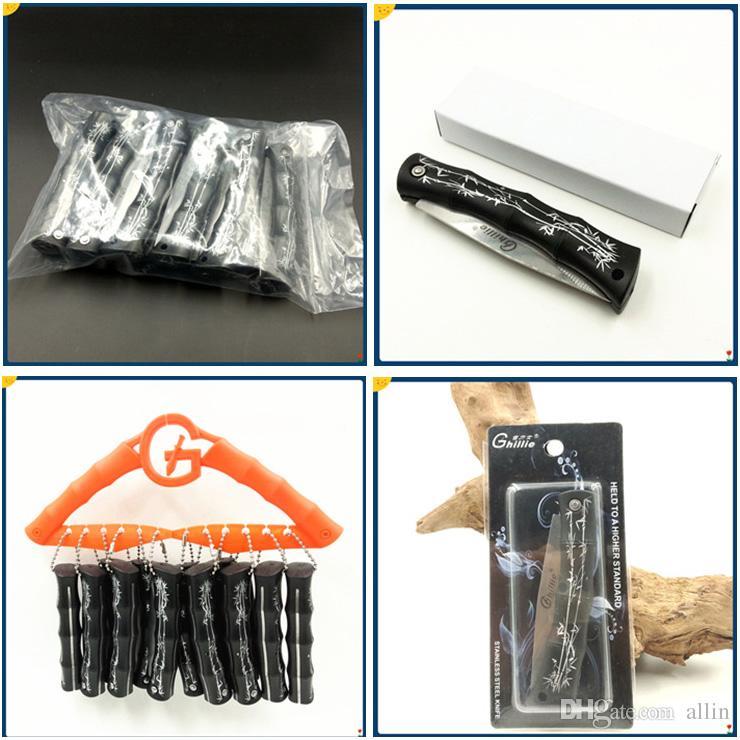 Заводские Ghillie EDC карманный складной лезвия Ножи Фруктовый нож ABS Ручка ножа карманный мини Выживание ножи Дешевые