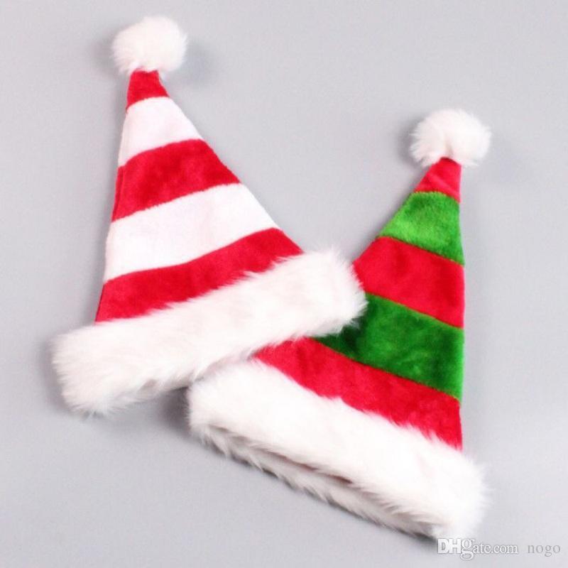 1 adet Yüksek Kalite Noel Noel Baba Kırmızı Şapka Kapaklar Yetişkin Ve Çocuklar Için Yeni Yıl Hediyeleri Ev Partisi Malzemeleri