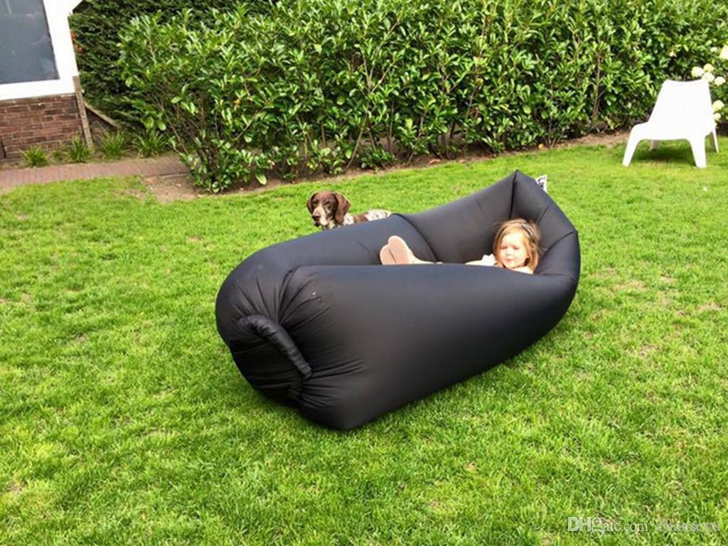 Children Outdoor Inflatable Lounger Nylon Fabric Beach Lounger Convenient  Compression Air Bag Hangout Bean Bag Portable Dream Chair Tent Camping  Childrens ...