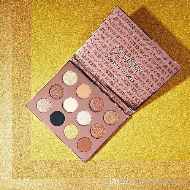 Yeni Colourpop Ben SENİ SEVİYORUM Preslenmiş toz gölge paleti Colourpop göz farı 12 renkler renk pop göz farı ücretsiz kargo