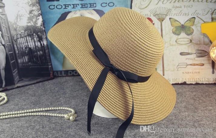 حار بيع صيف جديد أزياء الفتيات الأميرة قبعات الأطفال القبعات الشاطئ أطفال الصيف الجوف التدريجي sunhats الطفل الأزياء سترو قبعة الانحناء a9296