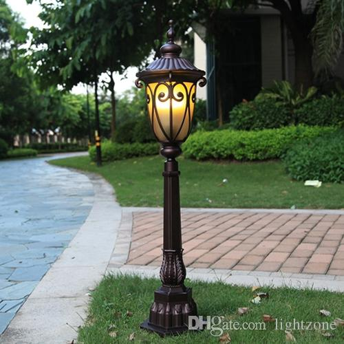 Lawn lamps outdoor European classic noble style 110cm height antirust lawn lamp LED lamp landscape garden lights for villa hotel park aisle