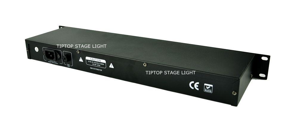 Prov 8 Way Splitter DMX Signal Splitter, DMX 512 SignalförstärkarePlitter, TP-D08 DMX Signal Distributör 8 Vägstegslampa