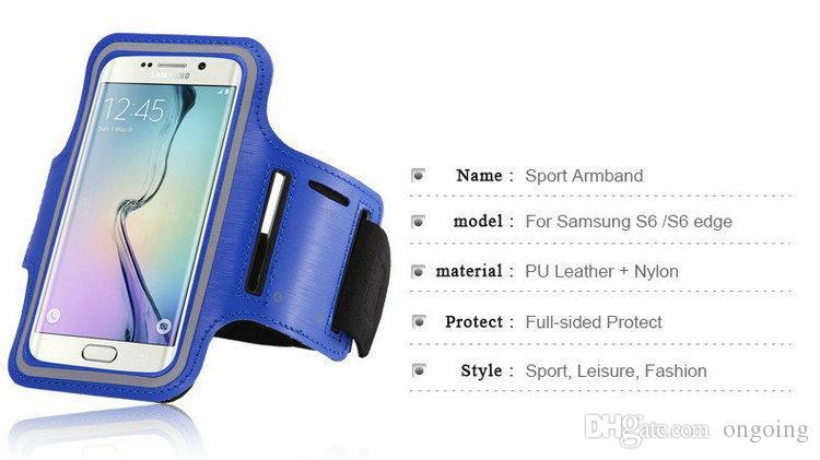 Galaxy S6 Impermeabile Sport Gym In Esecuzione Bracciale Protector Custodia morbida Custodia Cover Samsung S7 S7edge Iphone6s più DHL spedizione gratuita