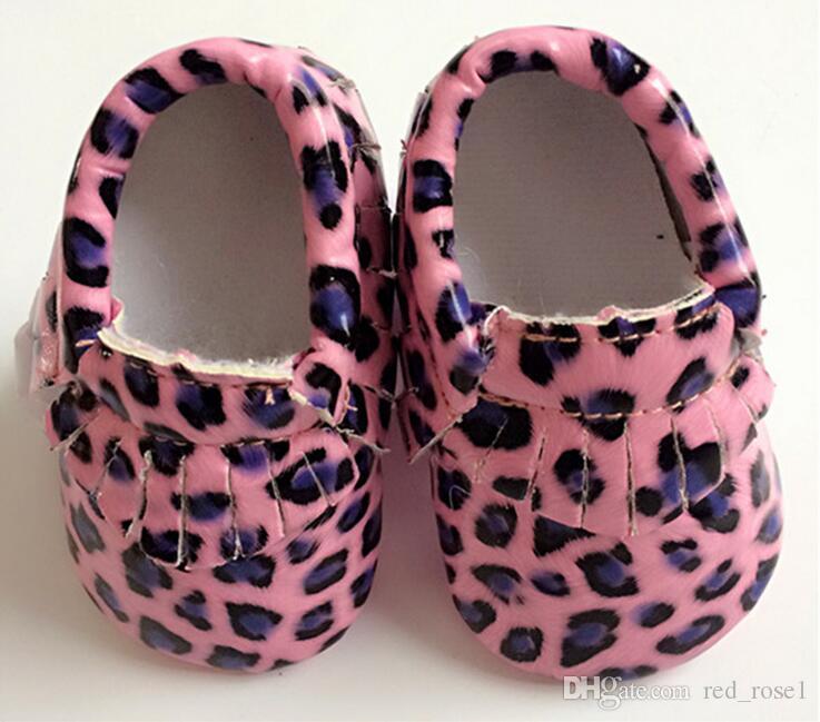 8 Farbe Baby Mokassins weiche Sohle PU Leder erste Wanderer Schuhe DHL Baby Quasten Leoparden Streifen Textur Schuhe Maccasions Schuhe Baby Erste Wal