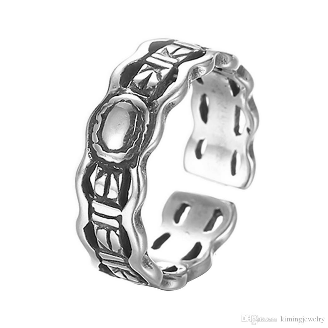 Men Finger Ring Vintage 925 Sterling Silver Jewelry Wholesale Wedding Band Steunk Accessories Cheap Chinese Goods Princess Cut Engagement: Chinese Man Wedding Band At Websimilar.org