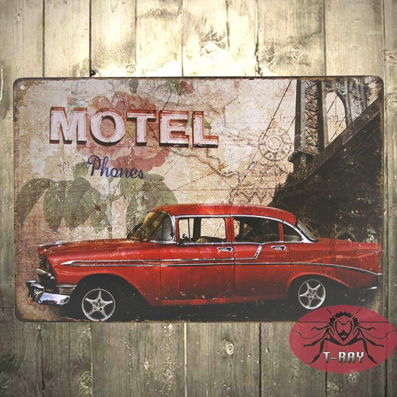 Red Gas Retro/Vintage Metal Plaque/Sign/Print/Poster Wall Art/Decor ...