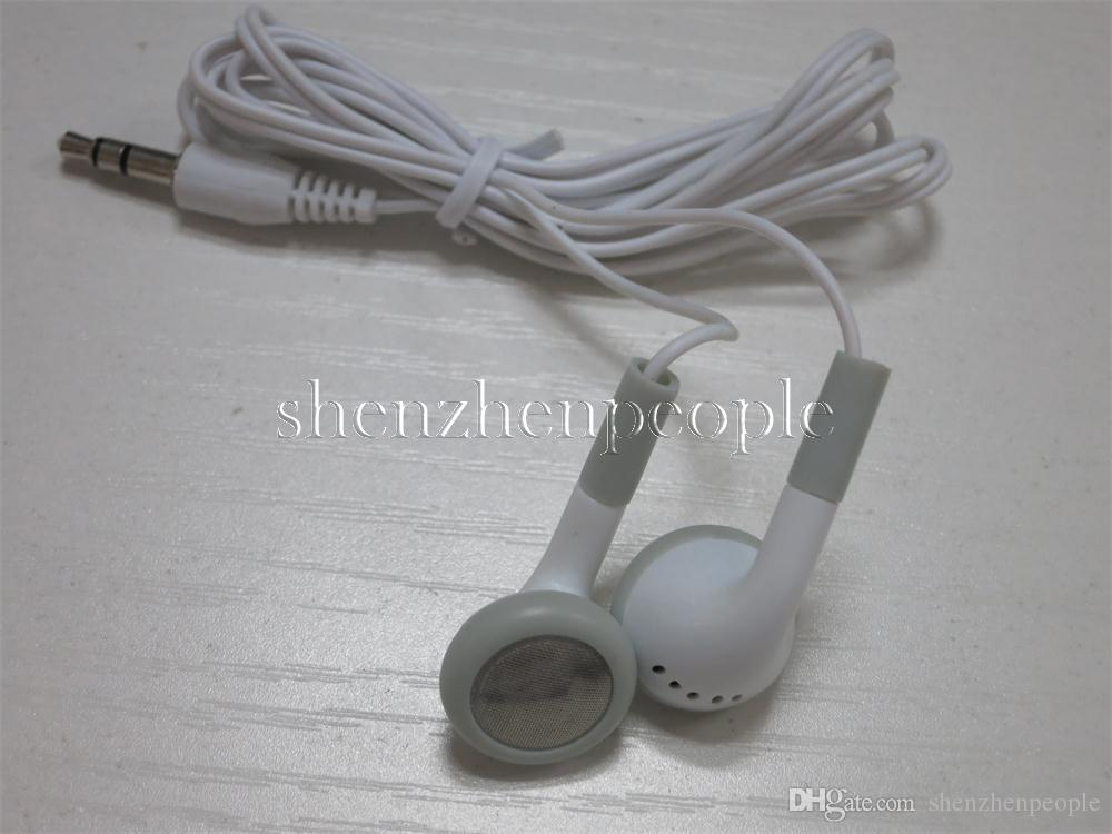 White Fashion in-ear cuffia auricolare auricolari da 3,5 mm il telefono mobile del telefono delle cellule del Mp3 Mp4 Mini HD cuffia di trasporto